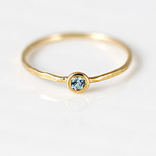 Aquamarine Stacking Ring in 14K Yellow Gold by Melanie Casey (Gold & Stone Ring)