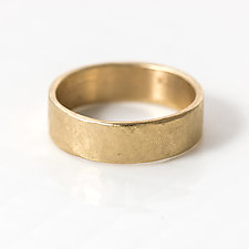 6mm Hammered Wedding Band by Melanie Casey (Gold Ring)