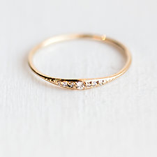 Diamond Tiny Line Band by Melanie Casey (Gold & Stone Ring)