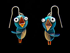 Songbird Earrings by Lisa and Scott  Cylinder (Metal Earrings)