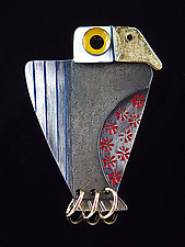Modern American Pin by Lisa and Scott  Cylinder (Metal Brooch)