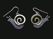 Slow Poke Earrings by Lisa and Scott  Cylinder (Metal Earrings)