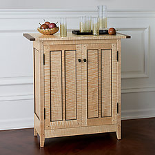 Tiger Maple Side Cabinet by Tom Dumke (Wood Side Table)