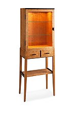 Tall Cherry Display Cabinet by Tom Dumke (Wood Cabinet)