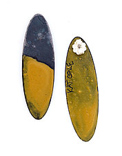 Oval Dip Earrings by Kat Cole (Enameled Earrings)