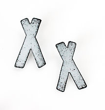 X Studs by Kat Cole (Enameled Earrings)