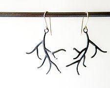 Small Branch Earrings by Hannah Blount (Silver Earrings)