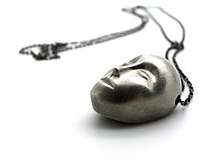 Grand Gray Lady Necklace by Hannah Blount (Silver Necklace)
