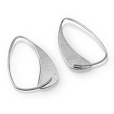 Triangle Hoops by Susan Panciera (Silver Earrings)