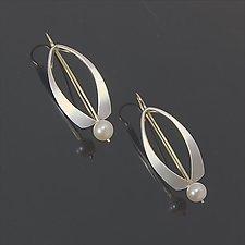 Wishbone Earrings by Susan Panciera (Silver & Pearl Earrings)