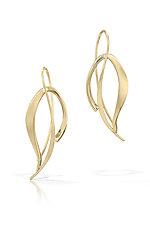 Blowing Leaves Earrings by Susan Panciera (Gold or Silver Earrings)
