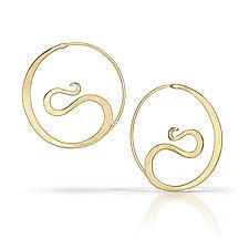 Cradle Hoops in 14K Yellow Gold by Susan Panciera (Gold Earrings)