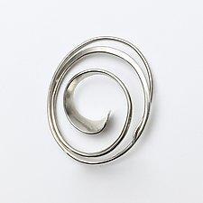 Forged Oval Swirl Pin by Susan Panciera (Silver Brooch)