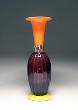 Rose Optic Stack by Scott Summerfield (Art Glass Vase)