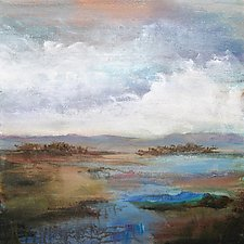Along the Stream by Karen  Hale (Acrylic Painting)