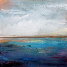 Coastal Scene by Karen  Hale (Acrylic Painting)
