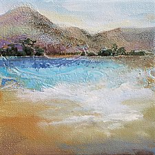 Distant Hills by Karen  Hale (Acrylic Painting)