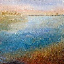 Waterway II by Karen  Hale (Acrylic Painting)