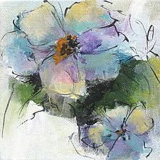 Floral 3 by Karen  Hale (Acrylic Painting)