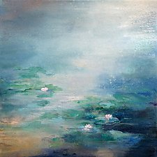 Lily Pads by Karen  Hale (Acrylic Painting)