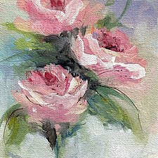 In the Pink by Karen  Hale (Acrylic Painting)