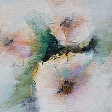 Soft Floral 1 by Karen  Hale (Acrylic Painting)