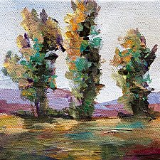 Three Trees by Karen  Hale (Acrylic Painting)