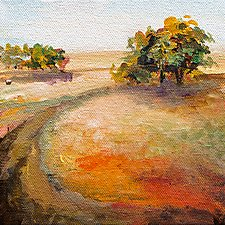 On the Path by Karen  Hale (Acrylic Painting)