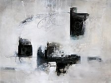 Composition in Black and White by Karen  Hale (Acrylic Painting)