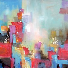 Urban Whimsy by Karen  Hale (Acrylic Painting)