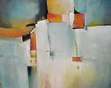 Random Lines and Space by Karen  Hale (Acrylic Painting)