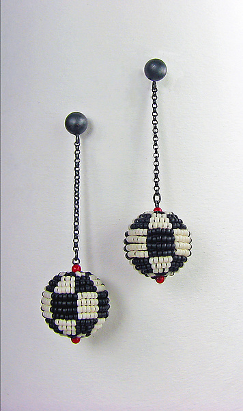 Black and White Mod Earrings