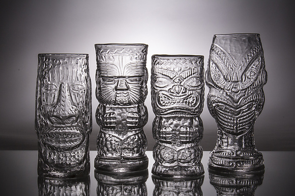 Glass Tiki Mugs