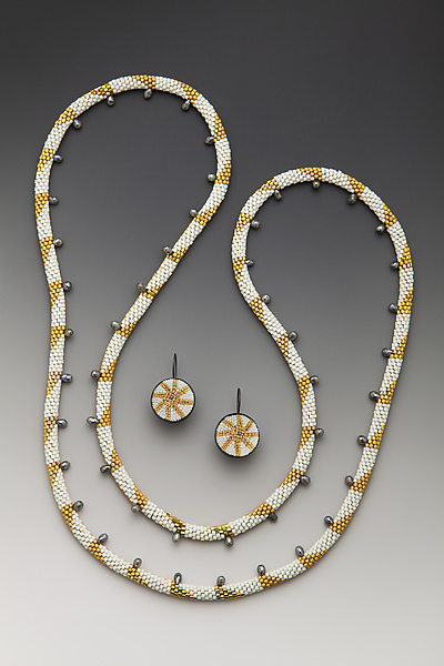 Aegean Wave Necklace and Earrings Set
