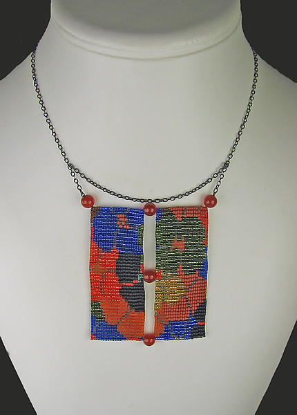 California Dream Beadwork Necklace with Carnelians 2