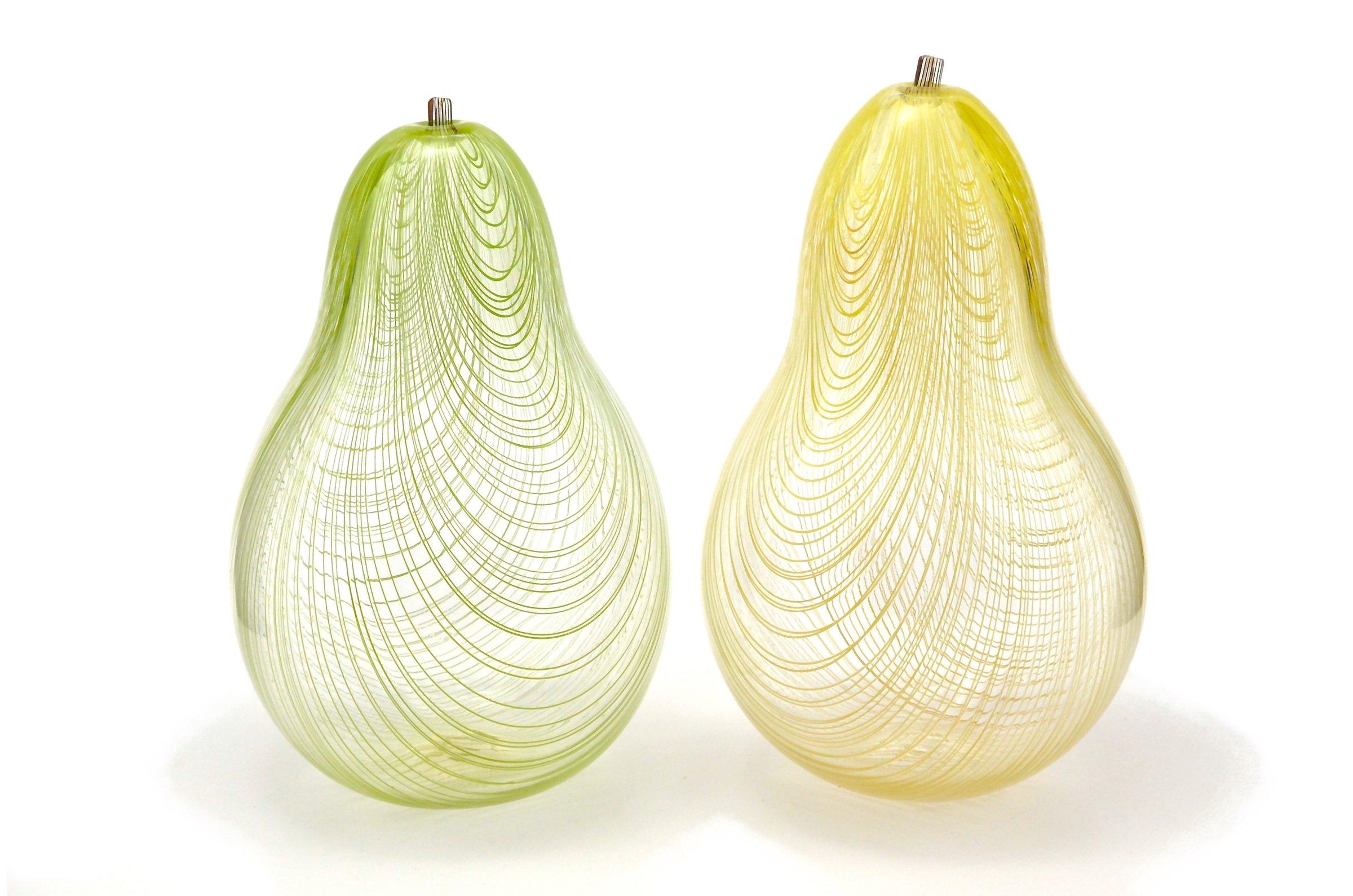 Glass Pears by Marc Carmen (Art Glass Sculpture)   Artful Home