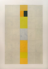 Central Stack Yellows by Nancy Simonds (Watercolor Painting)