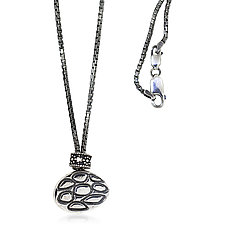 Oval Pebbles Sterling Y Necklace by Rona Fisher (Silver Necklace)