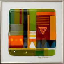 Spirit of the Southwest 1 by Mary Johannessen (Art Glass Wall Sculpture)
