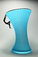 Climber II in Turquoise by Bryan Randa (Art Glass Vase)