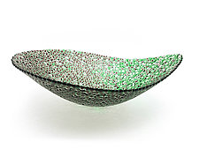 Nido 11 Concord and Meadow Green Bowl by Joseph Enszo (Art Glass Bowl)