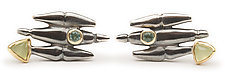 Metro Earrings with Stones by Alison Antelman (Gold, Silver & Stone Earrings)