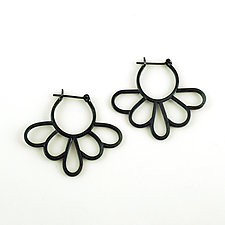Daisy Hoops by Vickie  Hallmark (Silver Earrings)