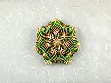 Kaleidoscope No. 74 by Joh Ricci (Fiber Brooch)