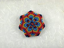 Kaleidoscope No. 68 by Joh Ricci (Fiber Brooch)