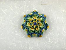 Kaleidoscope No.64 by Joh Ricci (Fiber Brooch)