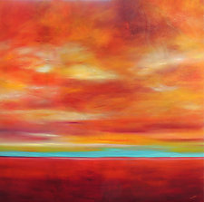 Variations of Red by Mary Johnston (Oil Painting)