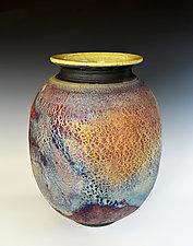 Nebula - Raku Vase by Tom Neugebauer (Ceramic Vessel)