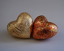 Heart in Hand Rattles V by Valerie Seaberg (Ceramic Sculpture)