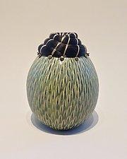 Horsehair Vessel by Valerie Seaberg (Ceramic Vessel)